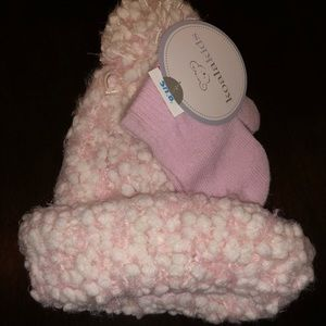 Koala Kids Accessories - Girls pink winter hat and matching mittens